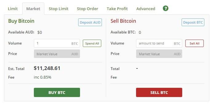 BTC Markets order