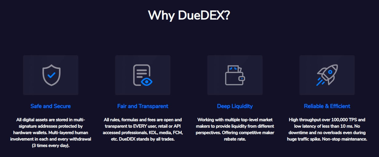 duedex features