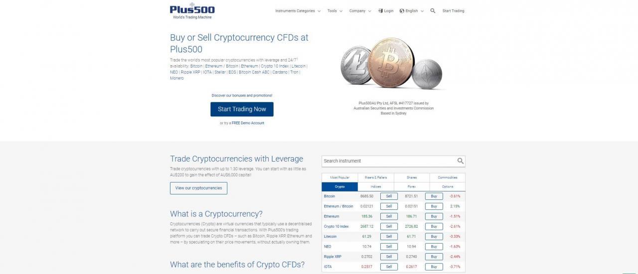 plus500 crypto